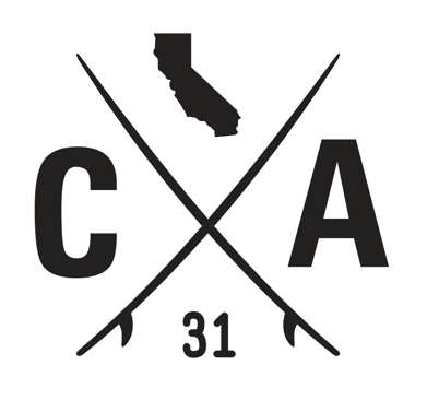 California Surfboards Decal