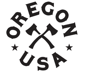 Oregon Axe Circle Decal