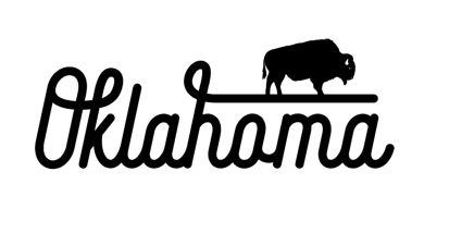 Oklahoma Buffalo Script Decal