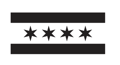 Illinois- Chicago Flag Decal