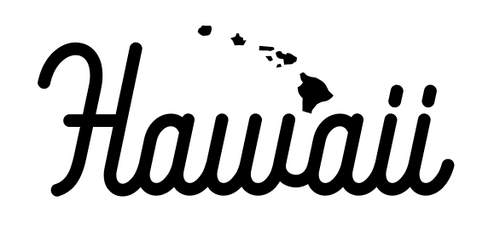 Hawaii Script Decal