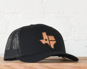 Texas State PU Leather Patch Snapback