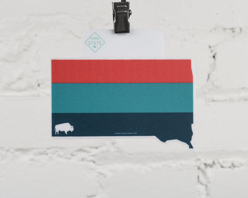 South Dakota Ombre Sticker