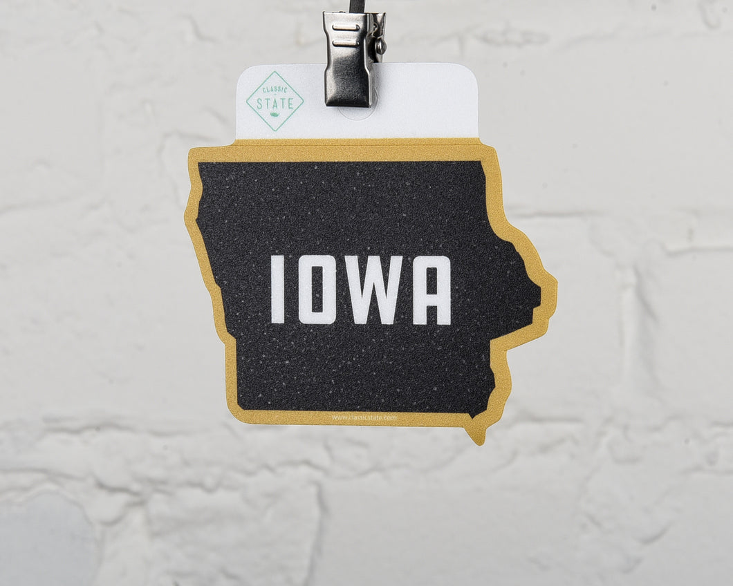 Iowa Fan State Shape Sticker