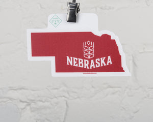 Nebraska State Shape Sticker