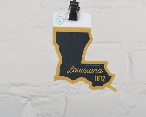 Louisiana Script State Sticker