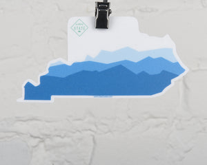Kentucky Mtn State Shape Sticker