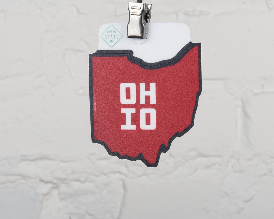 Ohio Erie State Shape Sticker