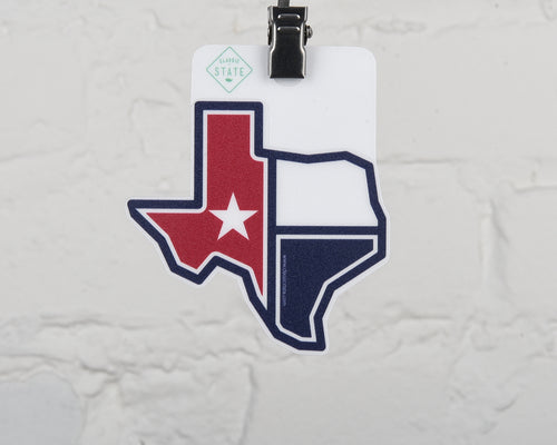 Texas Flag State Shape Sticker
