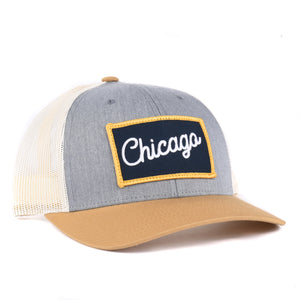 Illinois - Chicago Script Snapback Hat - Classic State