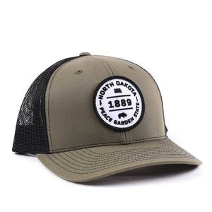 North Dakota Peace Garden State Snapback Hat - Classic State