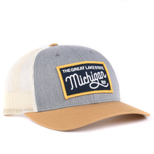 Load image into Gallery viewer, Michigan Script Snapback Hat Classic State