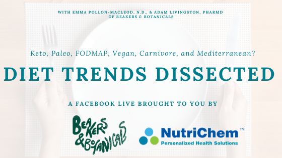 FACEBOOK LIVE - Diet Trends Dissected, with Beakers & Botanicals