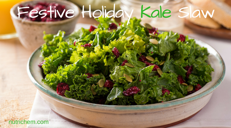 Festive Holiday Kale Slaw