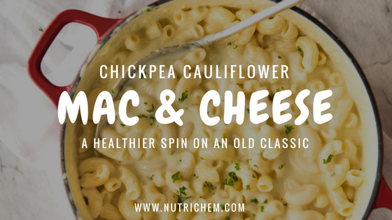 Chickpea Cauliflower Mac & Cheese