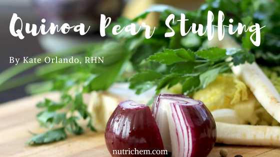 Dairy and Gluten Free Quinoa Pear Stuffing Recipe