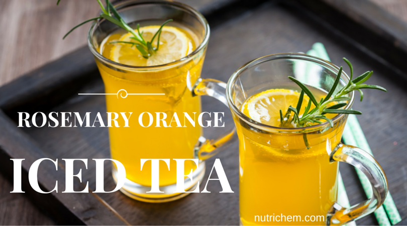 Rosemary Orange Iced Tea