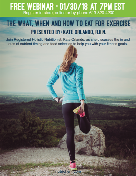 WEBINAR: The What, When and How to Eat for Exercise