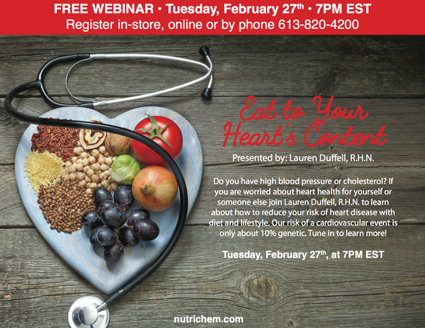 WEBINAR: Eat to Your Heart's Content