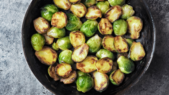 Sweet Heat Roasted Brussels Sprouts