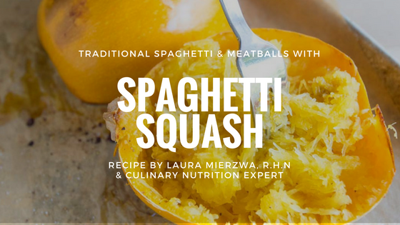Spaghetti Squash with Beef Meatballs