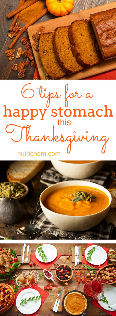6 Tips for a Happy Stomach this Thanksgiving - NutriChem blog post outlining tips for proper digestion