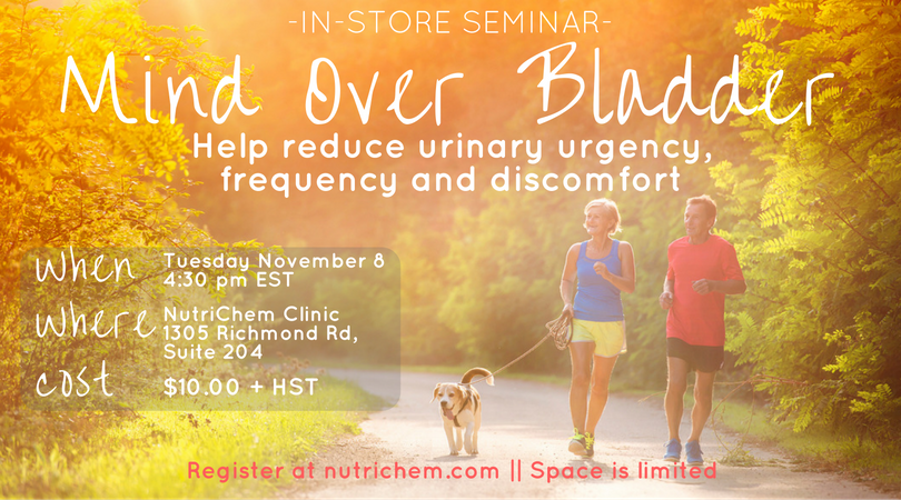 Mind Over Bladder Seminar - Information for sign up