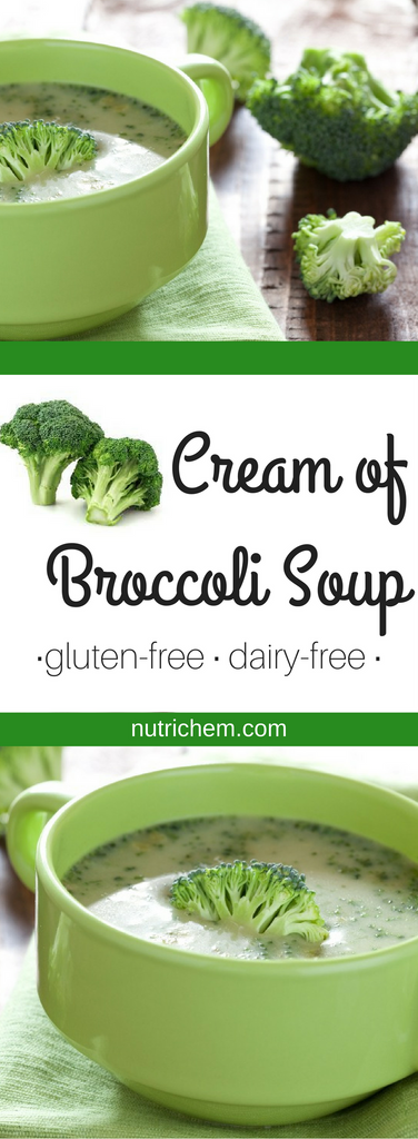 Cream of Broccoli Soup - Dairy Free recipe NutriChem.com