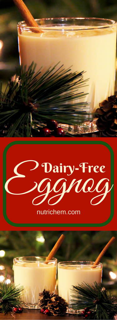 Dairy-Free Eggnog - the perfect drink for the holidays!