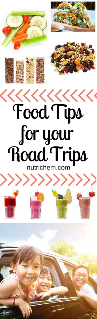 Food Tips for your Road Trips - NutriChem Pin image