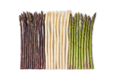 Asparagus colours - purple, white, green