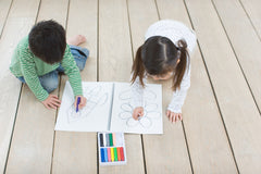 Children drawing - downtime helps to decrease stress