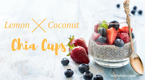 Lemon Coconut Chia Cups - NutriChem Recipe