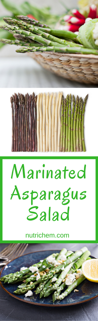 Marinated Asparagus Salad - Pinterest Pin