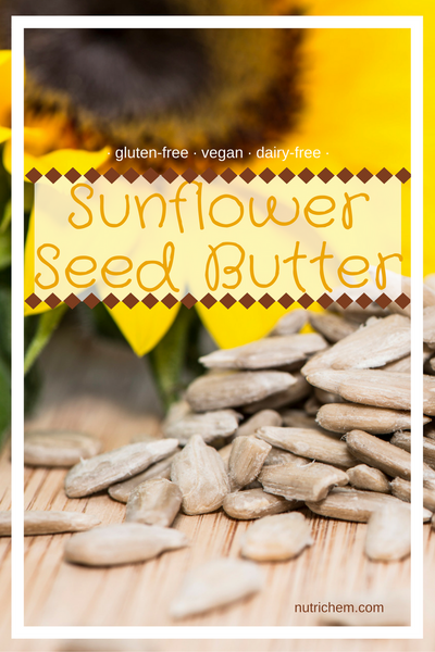 Sunflower Seed Butter - vegan, gluten-free and dairy-free