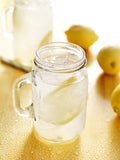 Lemon water mason jar