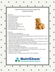 Gluten-Free Almond and Chocolate Chip Lactation Cookies