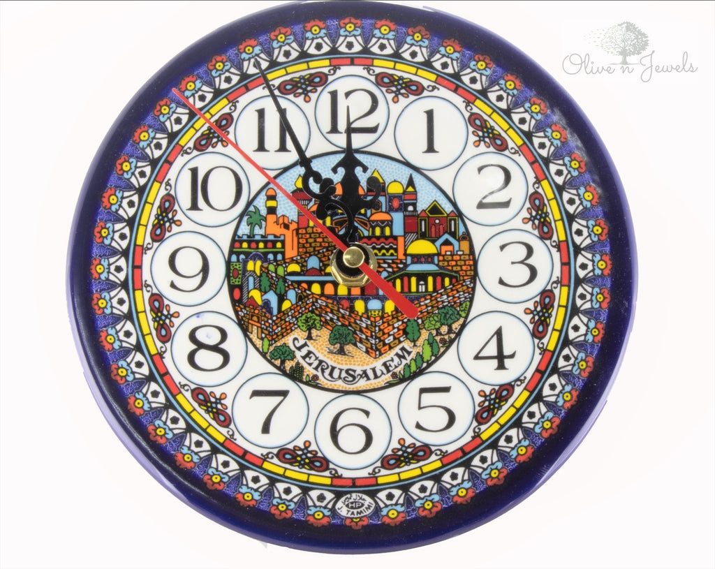 Hand Painted Jerusalem Clock