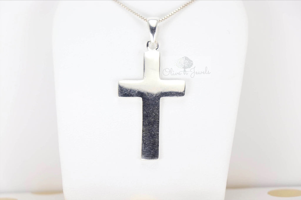 Plain Silver Cross