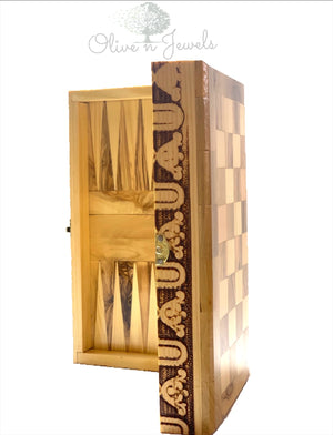 Chess & Backgammon Board & Chess Set