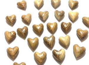 Solid Olive Wood Hearts