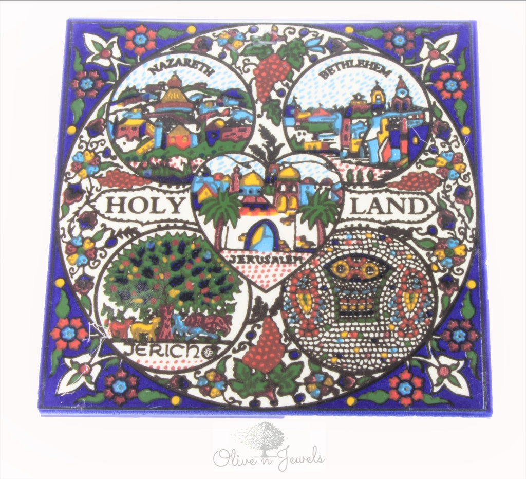 Ceramic Wall Hanging Holy Land Tile