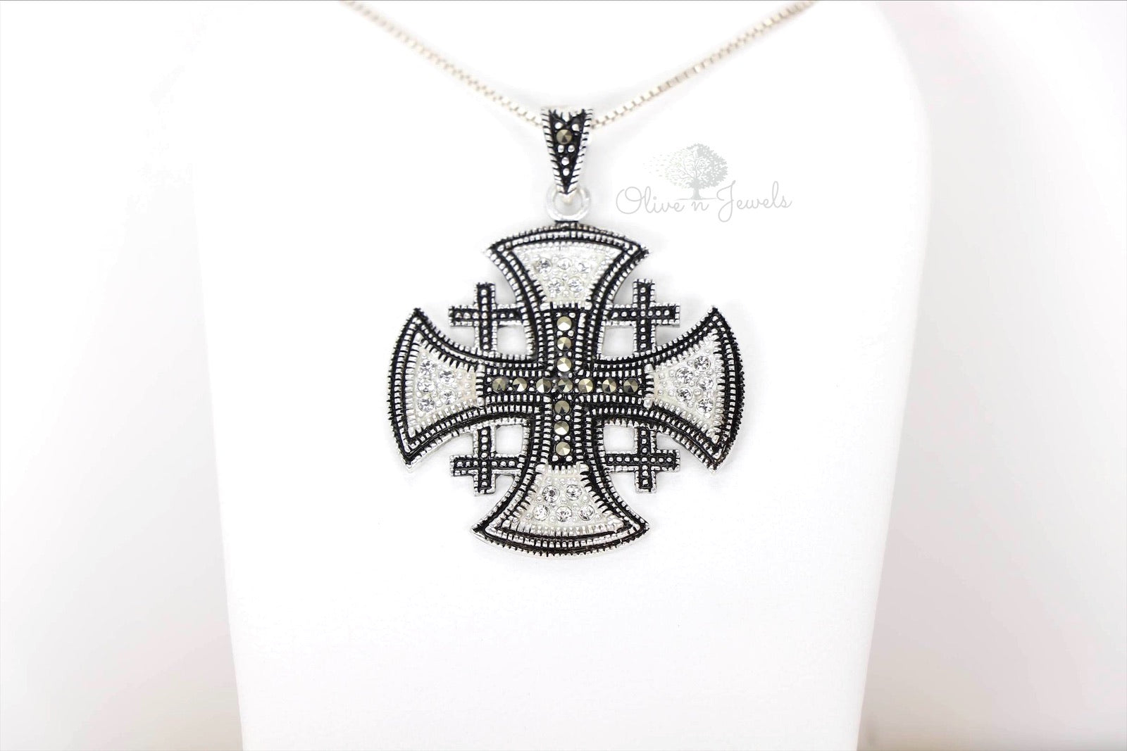 Marcasite Jerusalem Cross