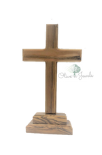 Standing Cross Olive Wood - Three Sizes
