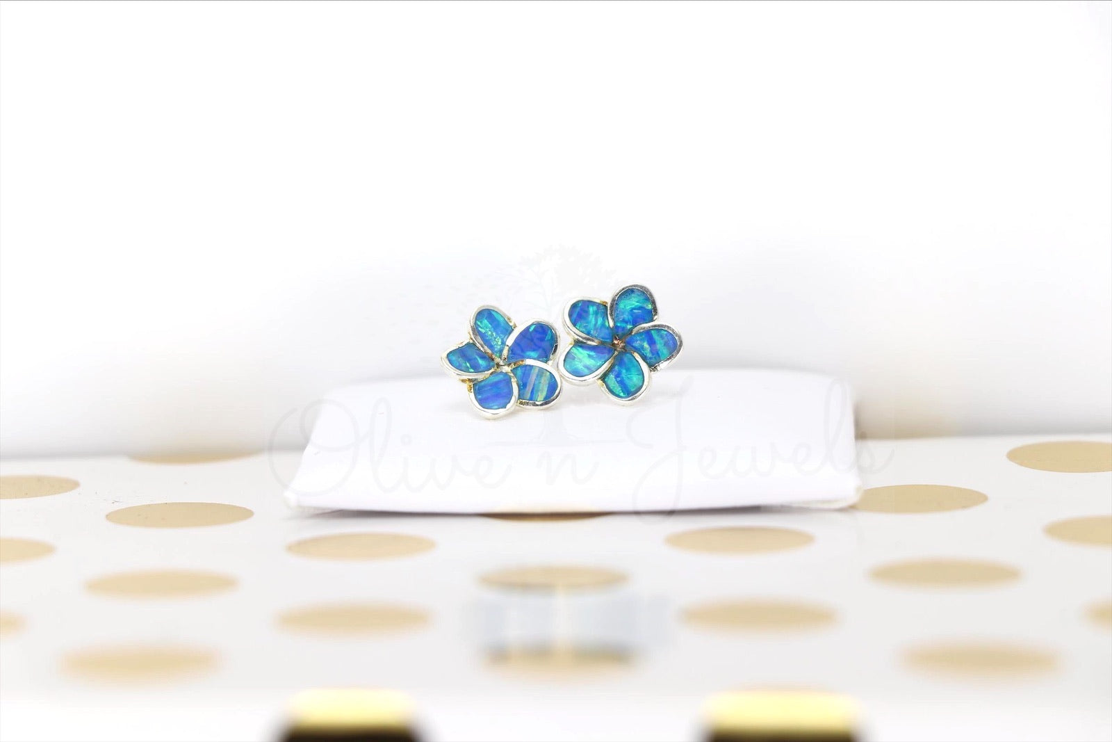 Opal Flower Stud Earrings