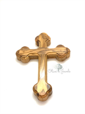 Cross Olive Wood Edgeless