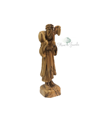 Faceless Shepherd Olive Wood