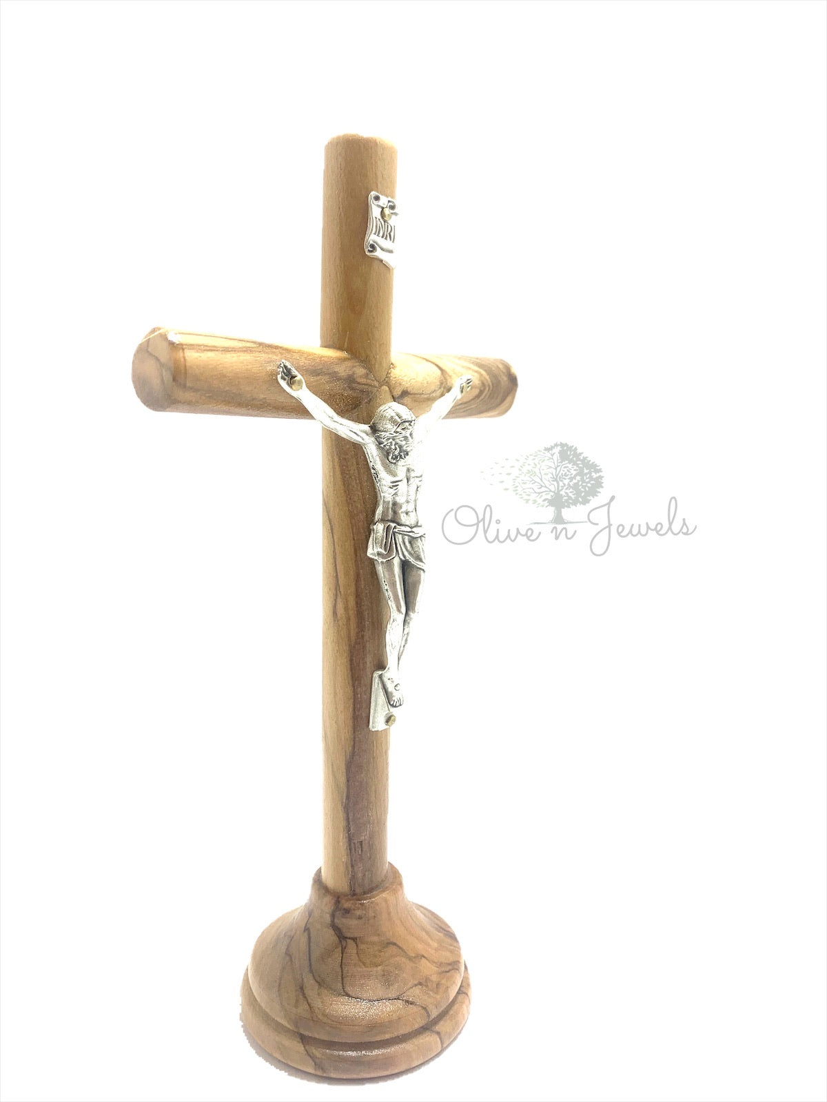 Crucifix Stand Natural Olive Wood