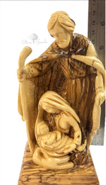 Holy Family With Base Olive Wood