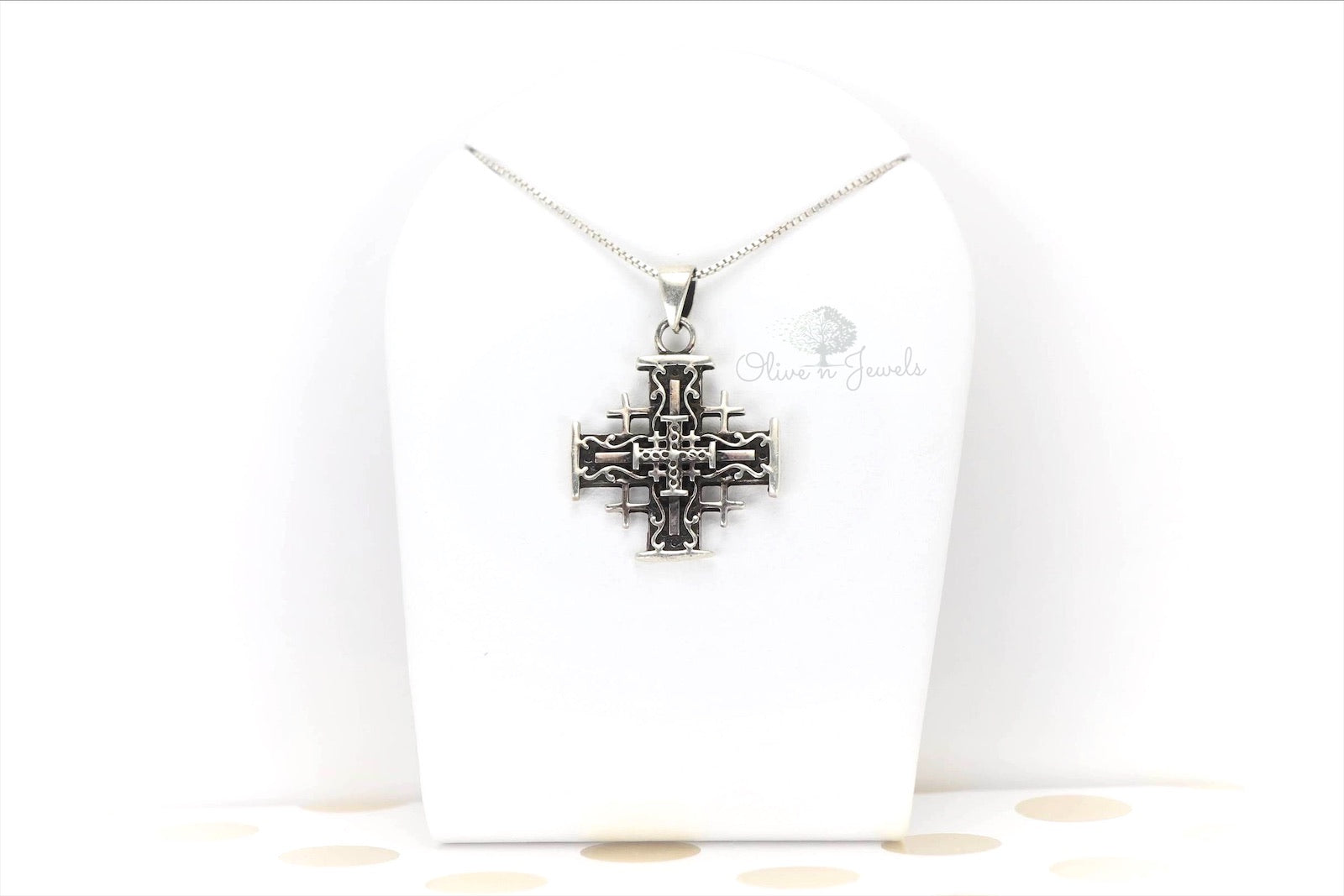 Silver Pendant Jerusalem Cross